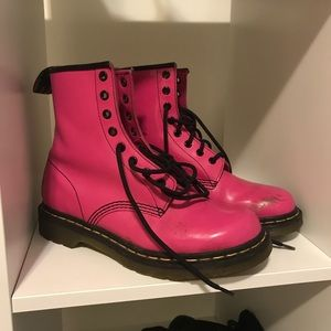 Hot pink doc martens